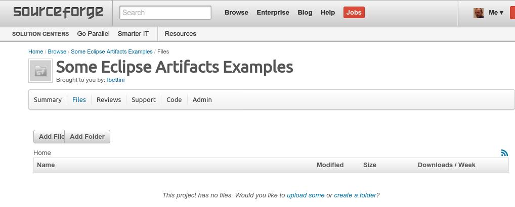 sourceforge create folder structure 1