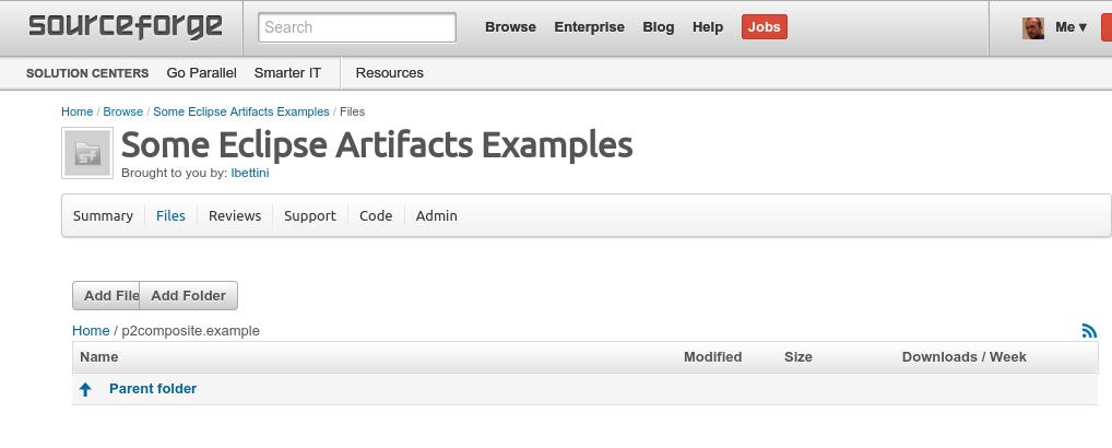 sourceforge create folder structure 2