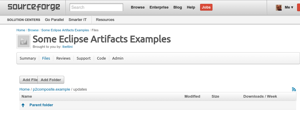 sourceforge create folder structure 3
